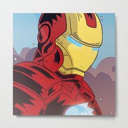 Iron M Metal Print