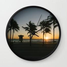 Fort Lauderdale at sunrise Wall Clock