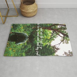 And Into The Forest I Go To Lose My Mind And Find My Soul-Forest Landscape Rug