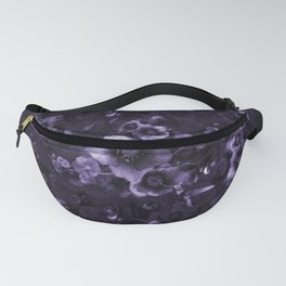 Moody florals purple by Odette Lager Fanny Pack