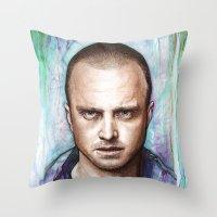 jesse pinkman Throw Pillows featuring Jesse Pinkman by Olechka