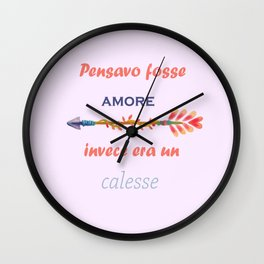 love quote lettering watercolor Wall Clock