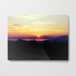 Rangeley Sunset Metal Print