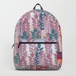 Girl with Flowers Backpack