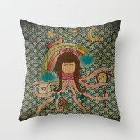 I'm A Little Octopus Throw Pillow