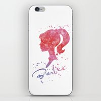barbie iPhone & iPod Skins featuring Barbie by Carma Zoe
