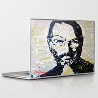 steve jobs Laptop & iPad Skins featuring Steve Jobs by Phil Fung