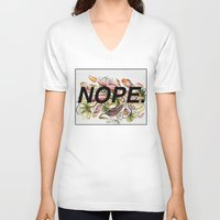 nope V-neck T-shirts featuring NOPE. by JHale Productions