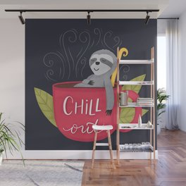 Chill Out Sloth Wall Mural