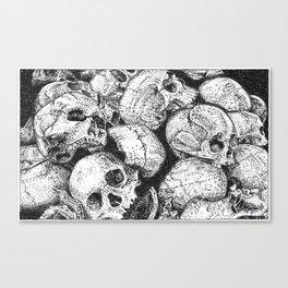 Pile o' Skullies Canvas Print