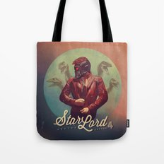 Star Lord and the Raptor 4 Tote Bag
