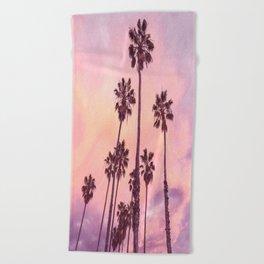 Palms to Pink World Beach Towel