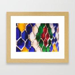 Multi colour wire pattern Framed Art Print