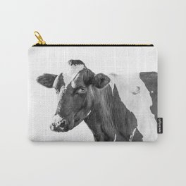 Cow Photography Animal Art | Minimalism black and white | black-and-white | Peek-a-boo Carry-All Pouch