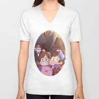 gravity falls V-neck T-shirts featuring gravity falls by Tae V