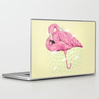flamingo Laptop & iPad Skins featuring Flamingo by dogooder