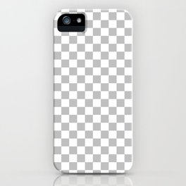 Small Checkered - White and Silver Gray iPhone Case