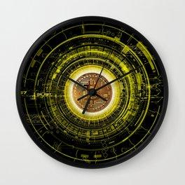 Bitcoin Blockchain Cryptocurrency Wall Clock