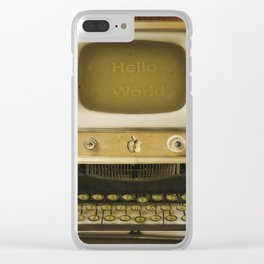 Hello World! Clear iPhone Case
