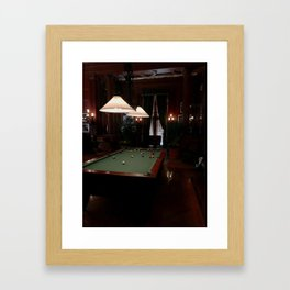 Pool Table at Biltmore Framed Art Print