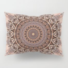 Mandala romantic pink Pillow Sham