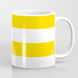 Sunshine Yellow and White Stripes Coffee Mug