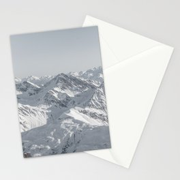 Mountain peaks - Mont Blanc serie 8 - sky touch Stationery Cards