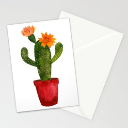 prickly pear cactus, flowering cactus, paddle cactus Stationery Cards