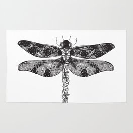 Lace dragonfly Rug