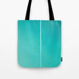 White Plane on Blue Sky Tote Bag