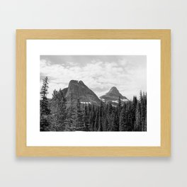 View from Going-to-the-Sun Road - Glacier National Park - Montana Framed Art Print