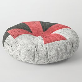 Knights Templar Flag in Super Grunge Floor Pillow