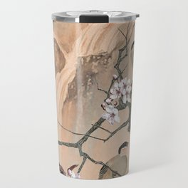 Cherry Tree And Two Birds Travel Mug