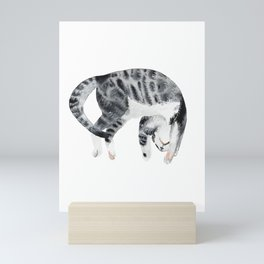 Yoga cat Mini Art Print