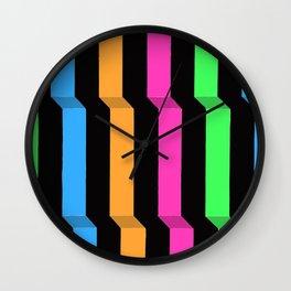 Original Geometric Op Art Design Wall Clock