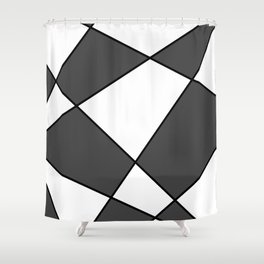 Geometric abstract - gray, black and white. Shower Curtain