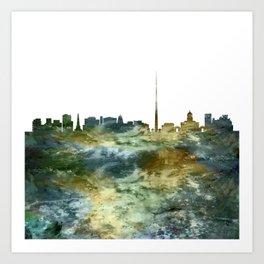 Dublin City Skyline Ireland Art Print