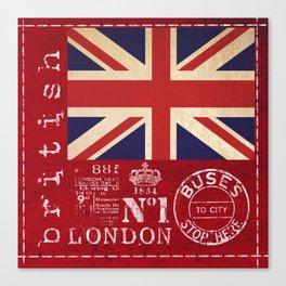 Union Jack Great Britain Flag Canvas Print