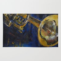 trumpet Area & Throw Rugs featuring Trumpet by Michael Creese