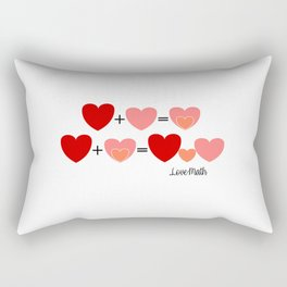 Love math, cute way to announce a pregnancy to your partner, funny baby reveal Rectangular Pillow