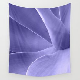 Periwinkle Succulent Wall Tapestry