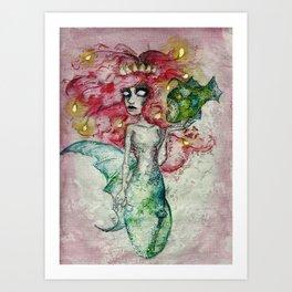 The Little Mermonster #2 Art Print