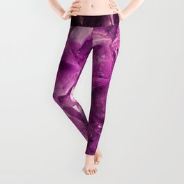 Amethyst Crystal Cave Leggings