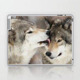 Wolf Kisses Laptop & iPad Skin