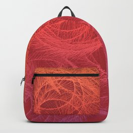 Feather Swirls - Hot Backpack