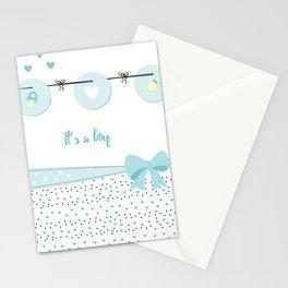 Baby boy background Stationery Cards