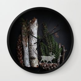 Birch Island in the Northwoods Wall Clock