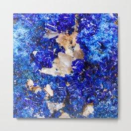 Crystalline Stone Rock Gem Metal Print