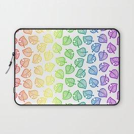 animal crossing villager nook shirt pattern gay pride Laptop Sleeve