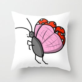 Butterfly Bby | Veronica Nagorny  Throw Pillow